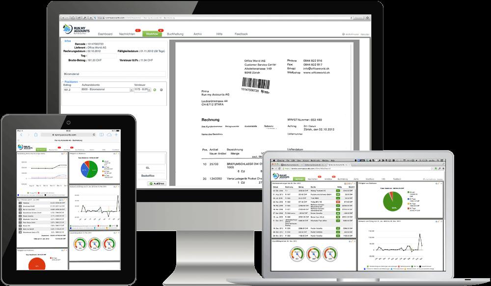 Online Buchhaltungs Software auf verschiedenen Plattformen