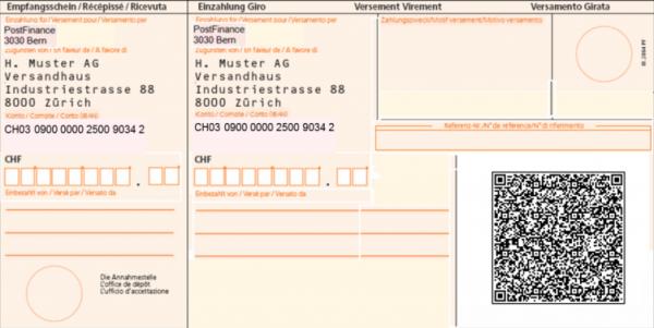 Neue Einzahlungsscheine mit QR-Code