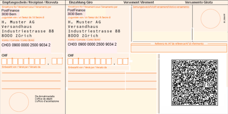 Neue Einzahlungsscheine mit QR Codes
