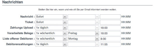 Run my Accounts Nachrichten Modul