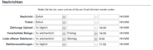 Run my Accounts Nachrichten Modul