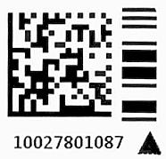 Barcode mit Dreieck