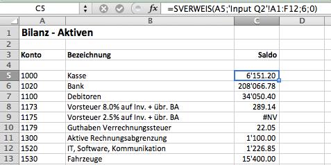 Excel sverweis Formel