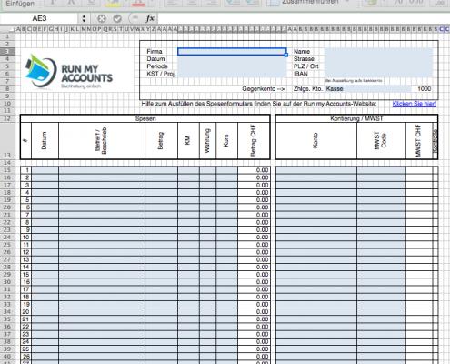 Spesenformular Spesen Mit Dem Gratis Excel Abrechnen