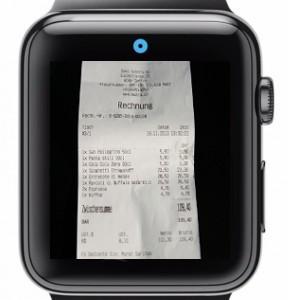Apple Watch Spesenscanner