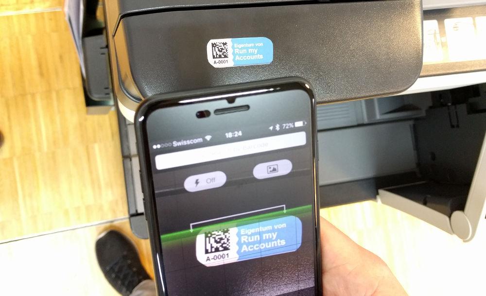 Anlagebuchhaltung Barcode Scannen