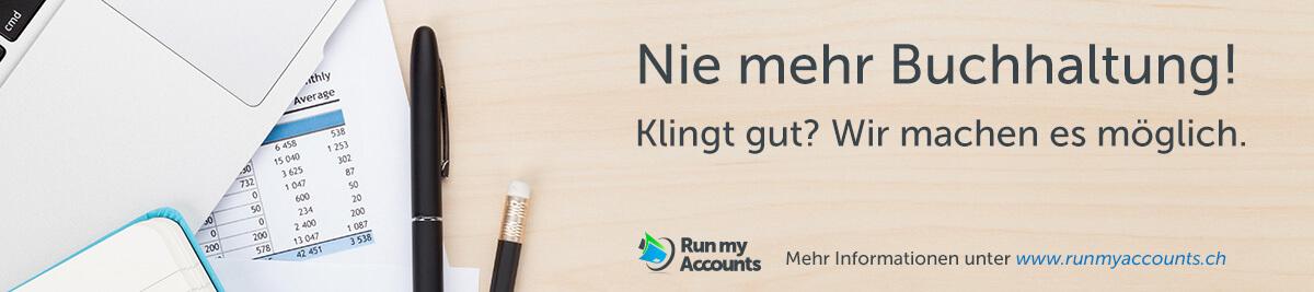 Nie mehr Buchhaltung machen - Run my Accounts