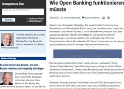 Wie Open Banking funktionieren müsste