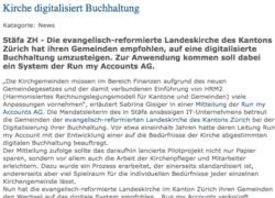 Unternehmer Zeitung Digitalisierung Kirchgemeinden Online Buchhaltung