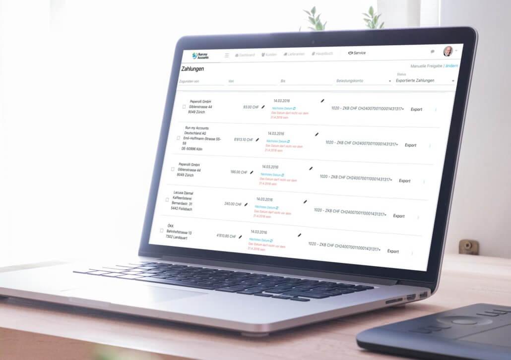 Update der Buchhaltungssoftware - Zahlungsworkflow