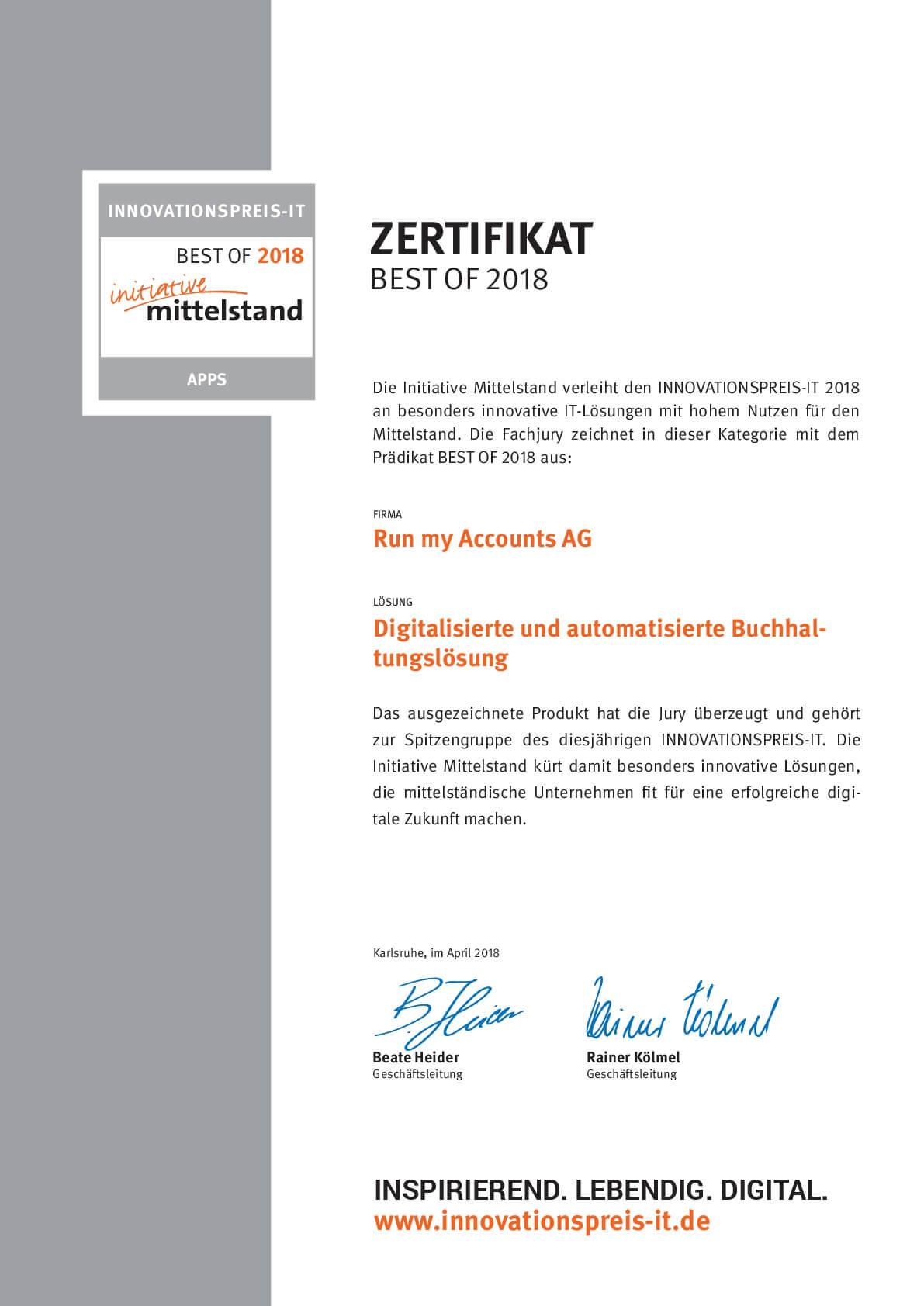 Innovationspreis-IT - Run my Accounts