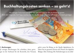 Tages-Anzeiger -Fokus Unternehmerguide - Buchhaltungskosten senken – so geht's!
