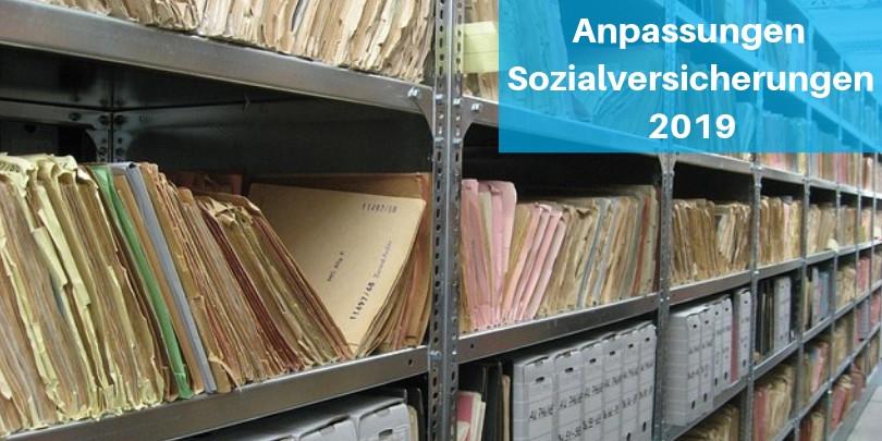 Anpassungen Sozialversicherungen 2019 Blogbeitrag