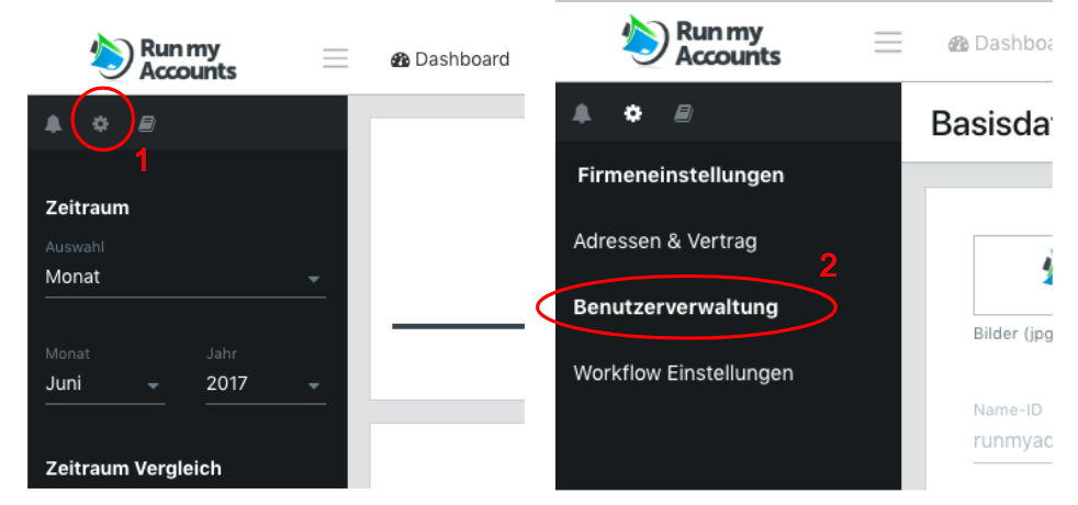Benutzerverwaltung Run my Accounts