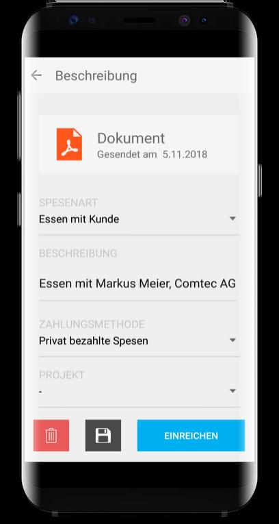 Spesenfunktion Run my Accounts App