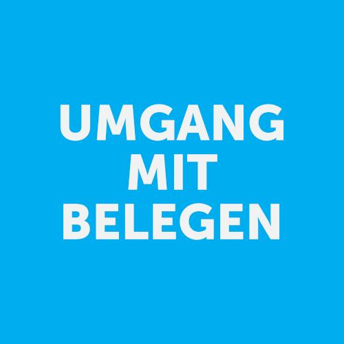 Button UMGANG MIT BELEGEN
