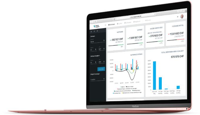 Online-Buchhaltungs-Software Dashboard-Modul