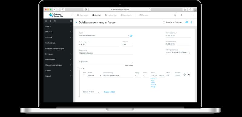 Kunden-Modul Online-Buchhaltungs-Software