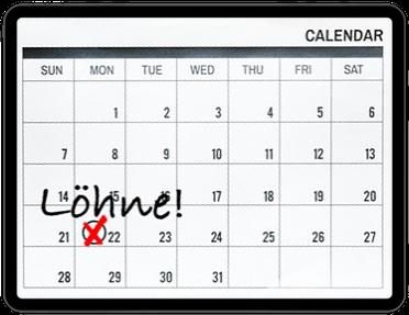 Lohnbuchhaltung auslagern - Kalender