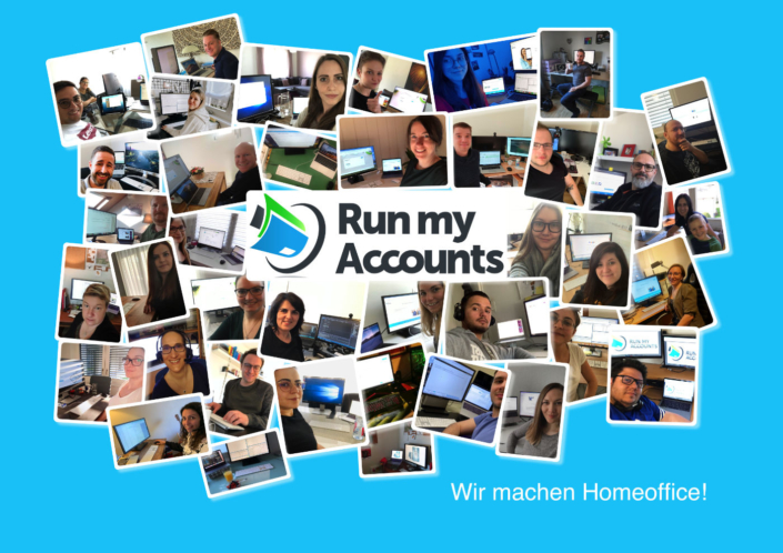 Mitarbeiter Run my Accounts im Homeoffice